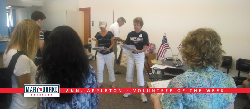 Volunteer of the Week: Ann from Appleton